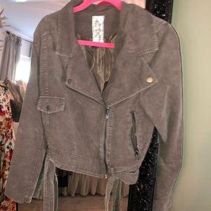 Jackets & Blazers - Corduroy biker jacket